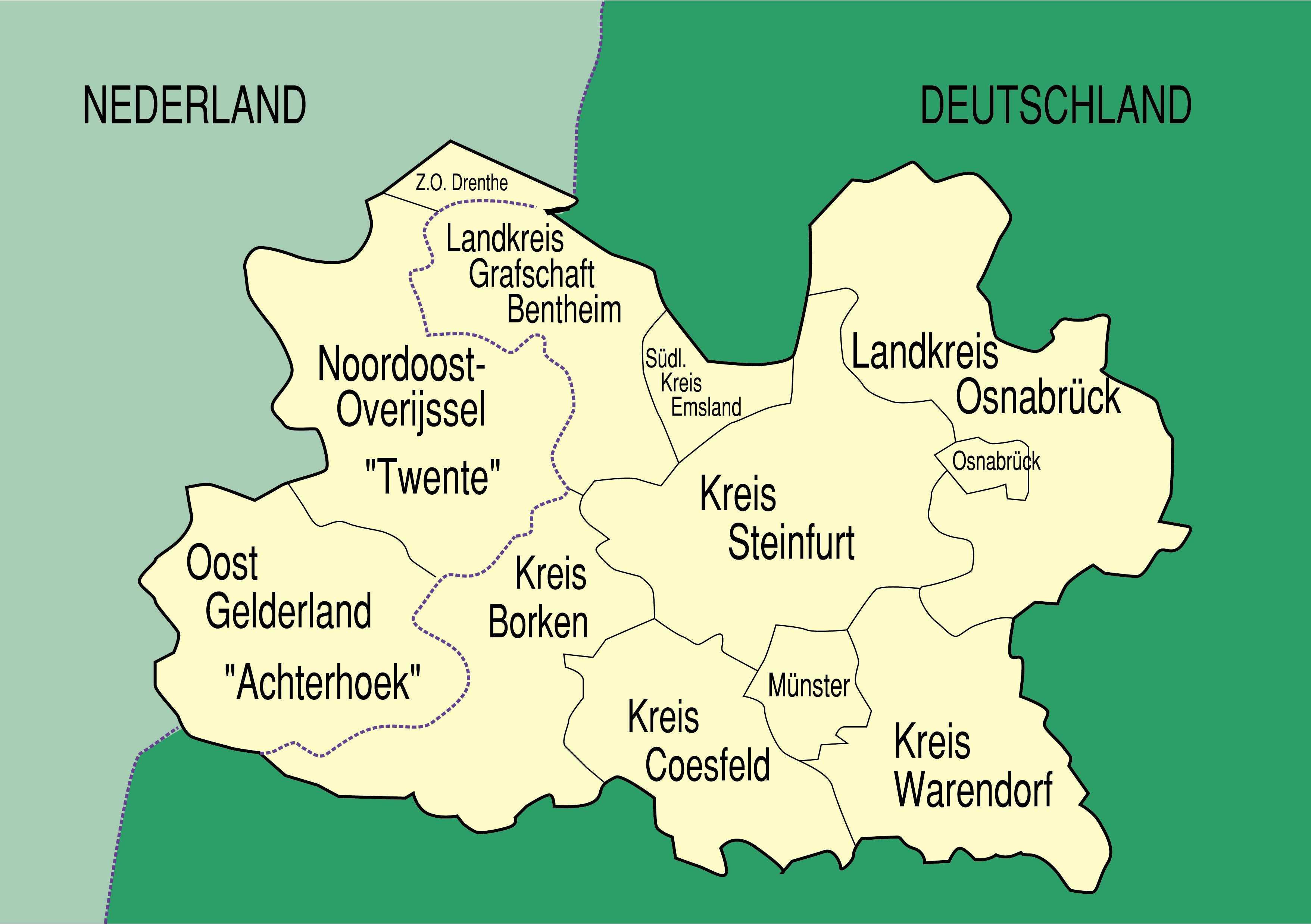 Karte Münsterland.Energie Gebäude Umwelt Euregio Projekt Klimaenergie 2020 Fh