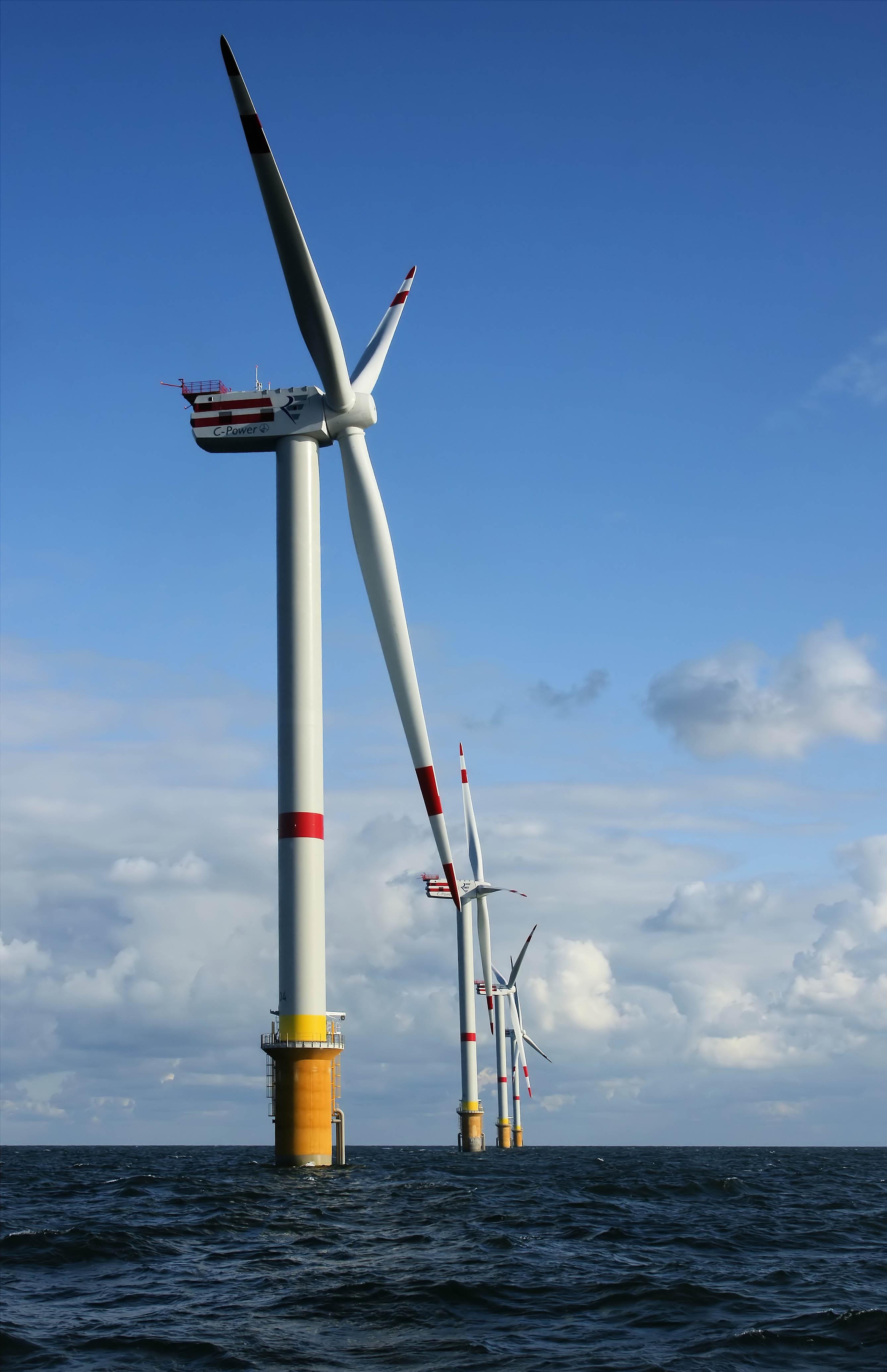 Windenrgieanlagen im Meer