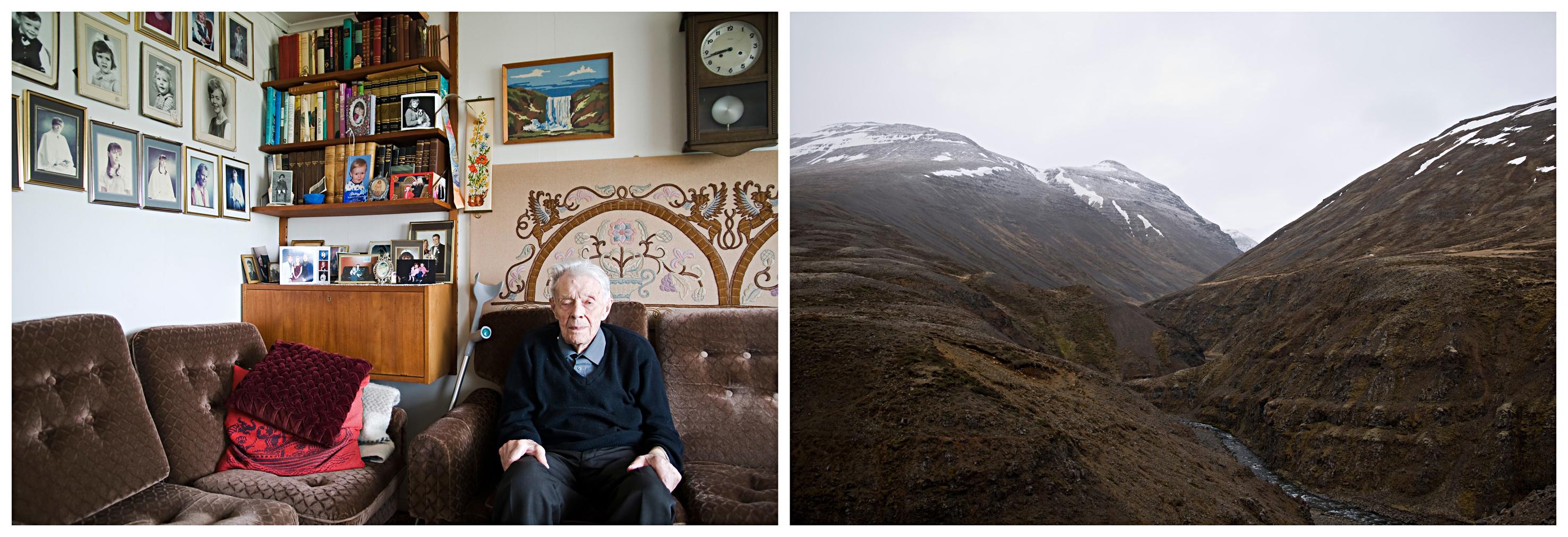 Porträt und Landschaftsaufnahme aus Island