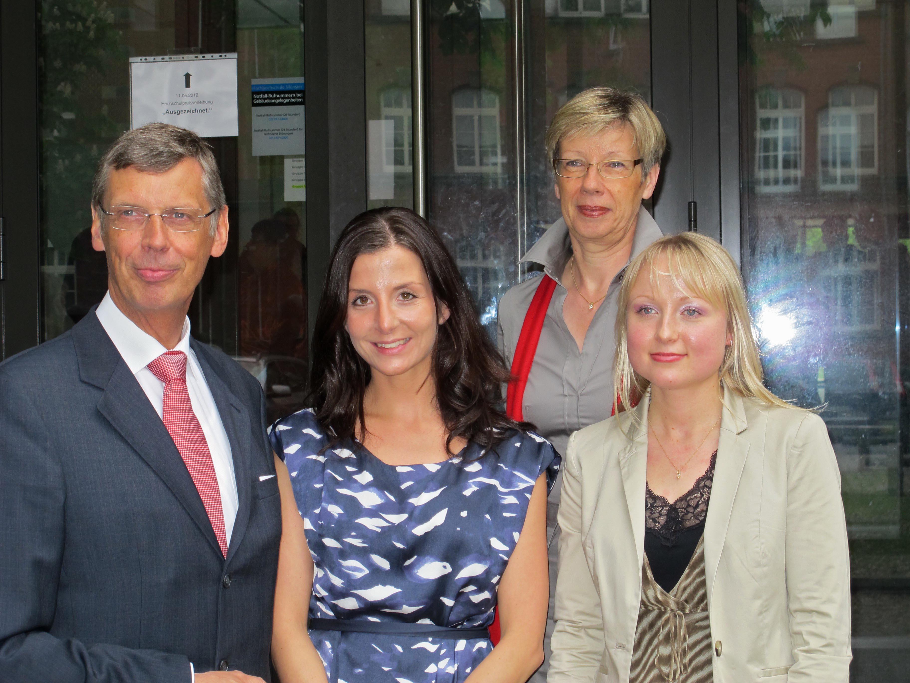 Karl-Friedrich Schulte-Uebbing, Prof. Dr. Ute von Lojewski, Irene Olchowski und Jessica Halbbauer
