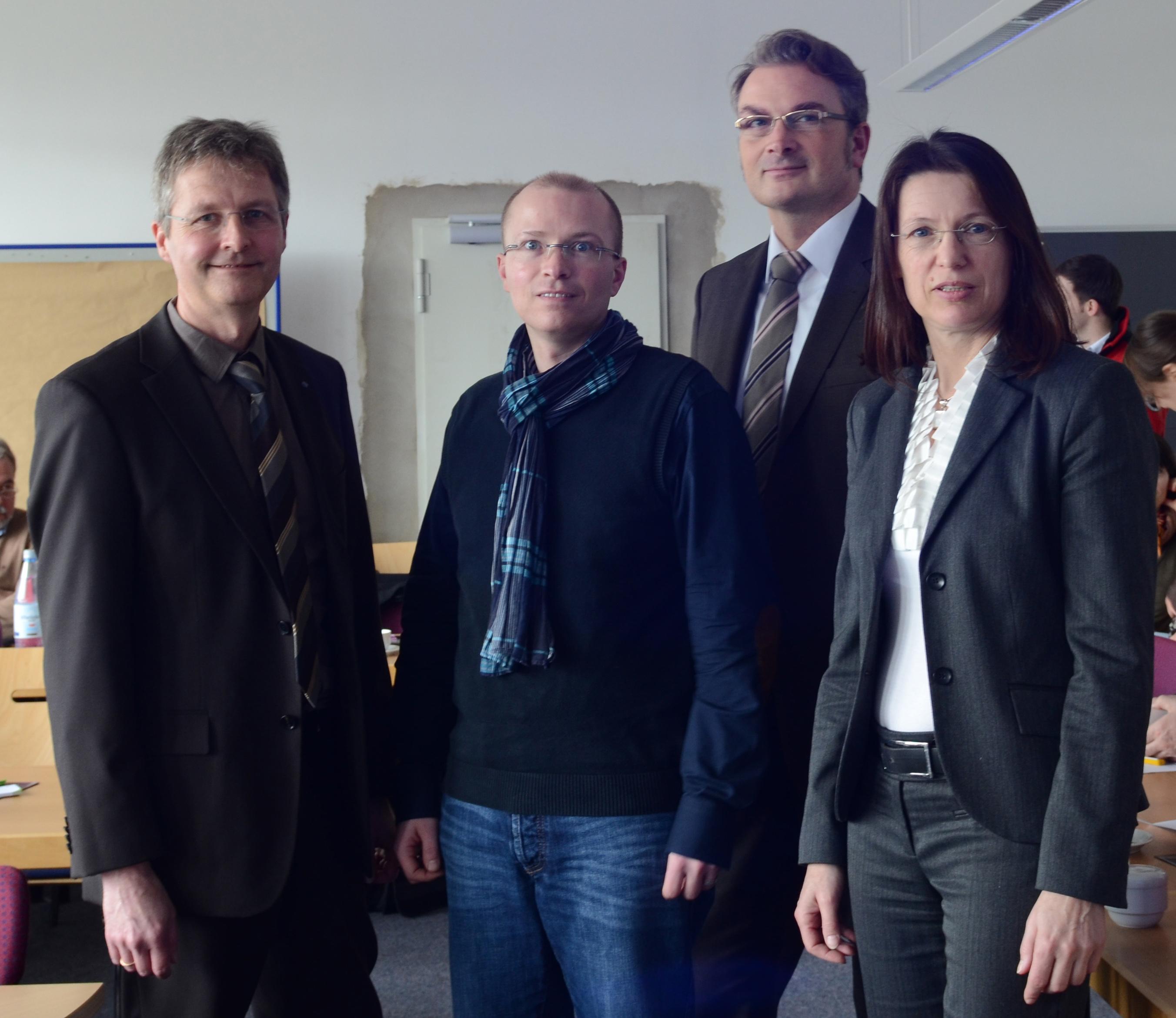Beate Kolkmann, Dr. Markus Grube, Dipl.-Ing. Kolja Knof, Prof. Dr. Guido Ritter