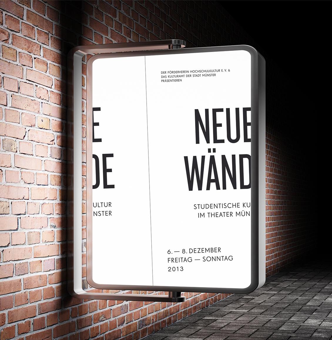 """Plakat zur Veranstaltung """"Neue Wände"""""""