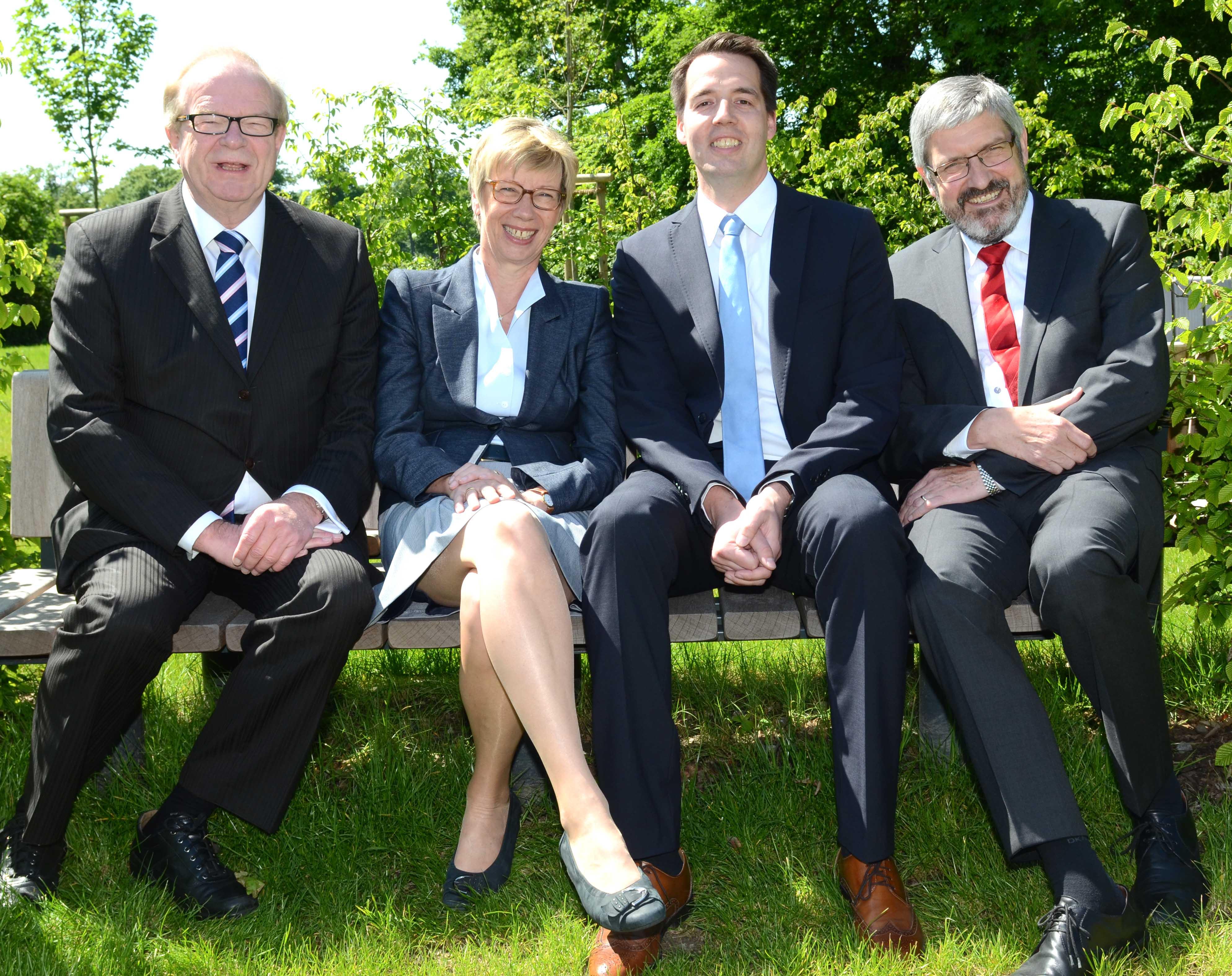 Wolfgang Bischoff, Prof. Dr. Ute von Lojewski, Carsten Schröder, Dr. Werner Jubelius (v.l.n.r.)