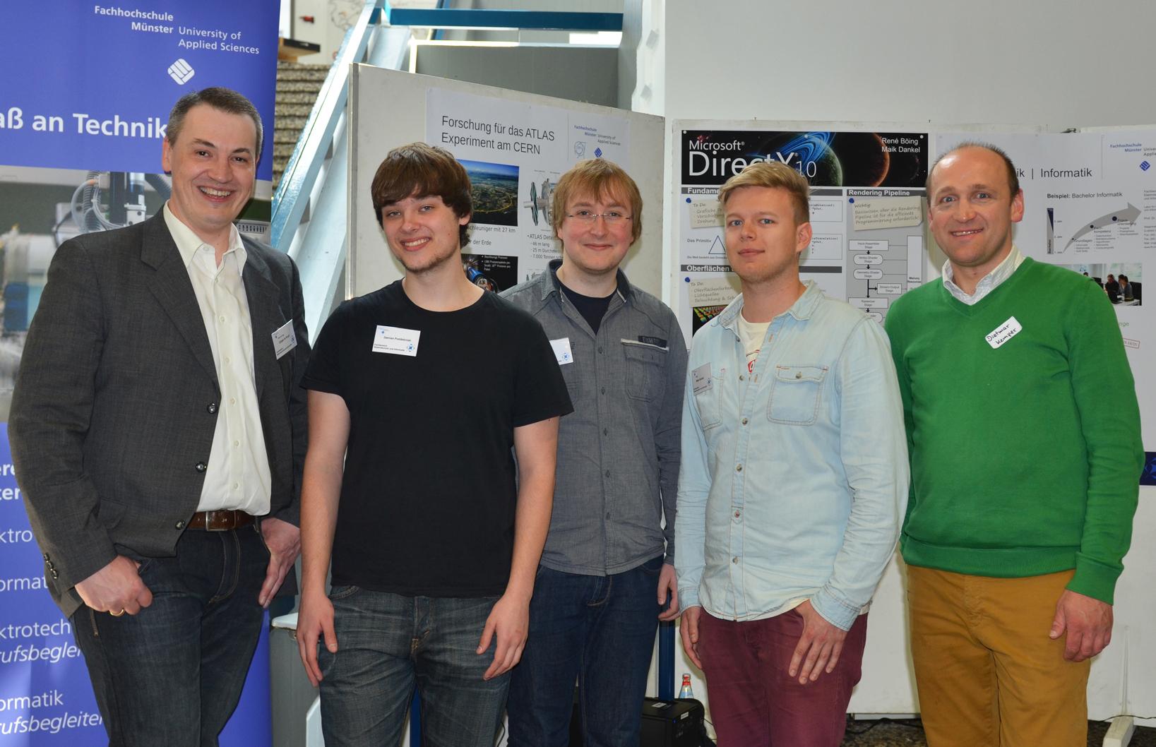 Stand des Fachbereichs Elektrotechnik und Informatik in der Herta-Lebenstein-Realschule.