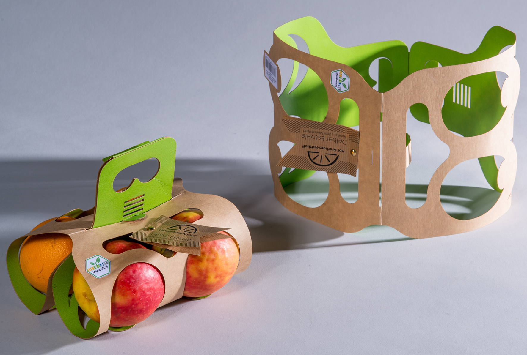 Preisgekrönte Apfelverpackung