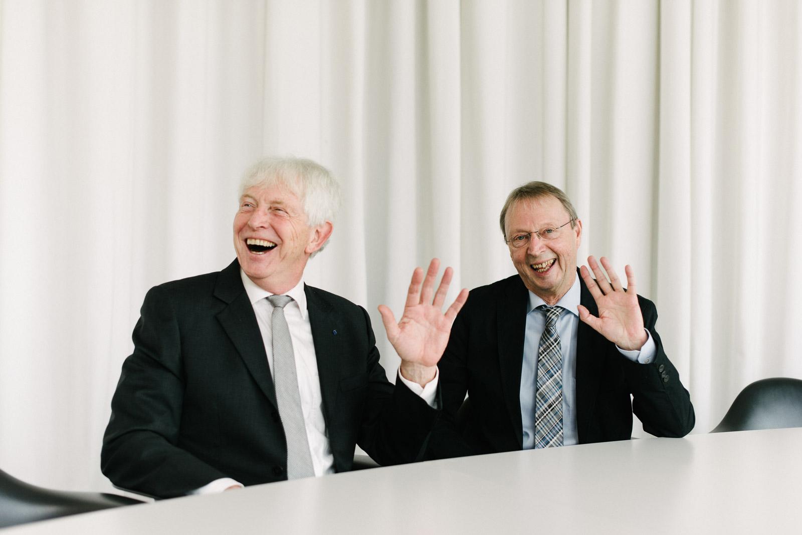 Prof. Dr. Bernhard Lödding und Prof. Dr. Richard Korff