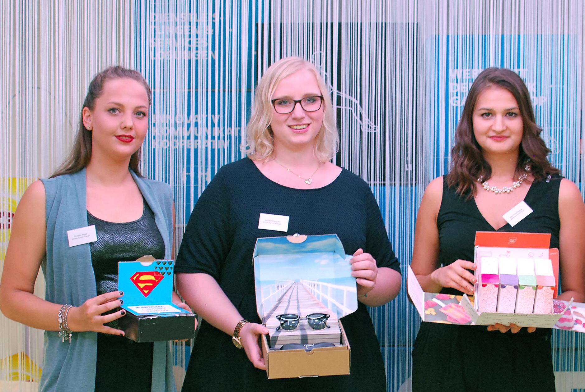 Christin Kruse, Anthea Kemper und Alina Koschlakow