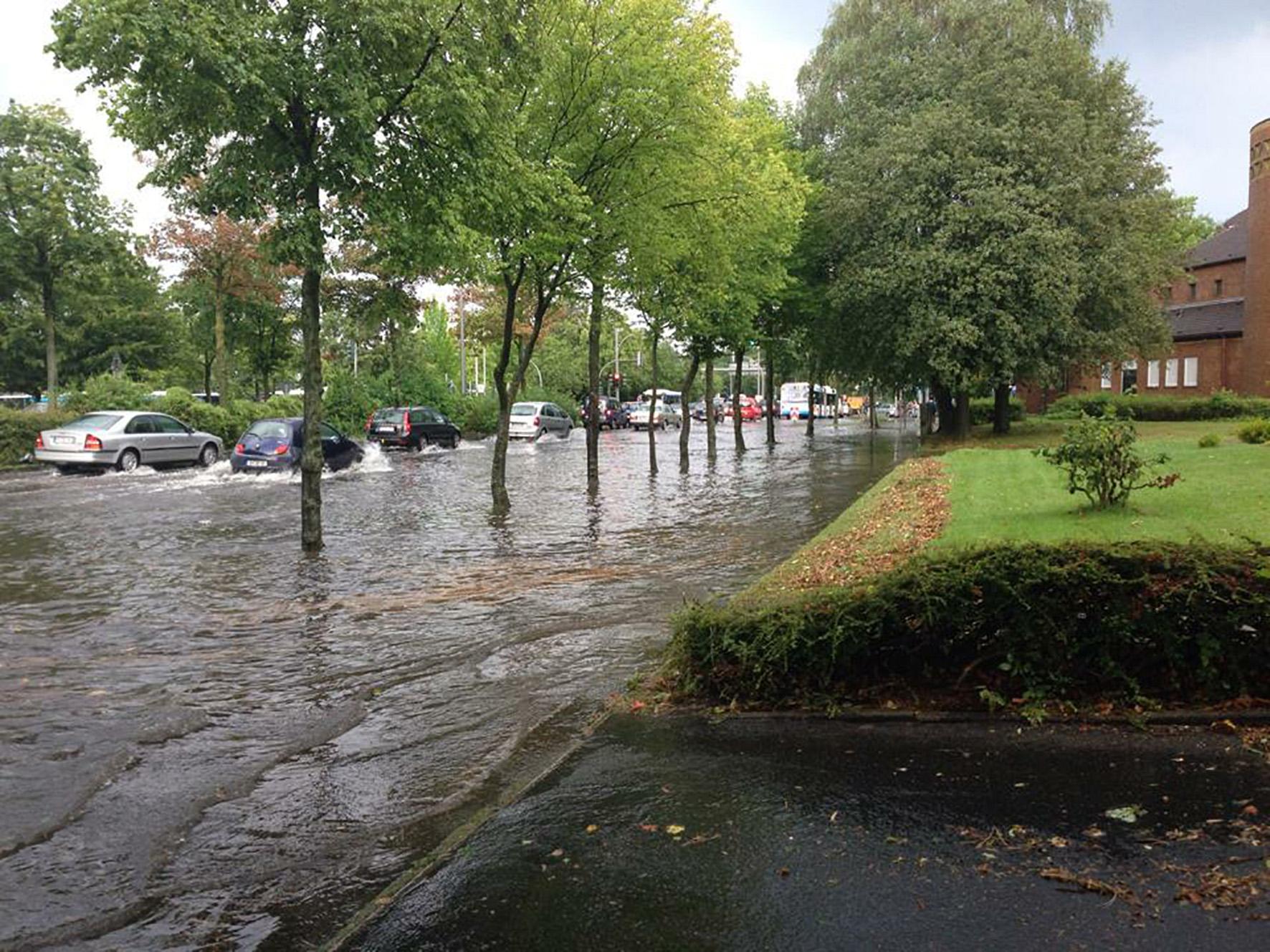 Unwetter in Münster
