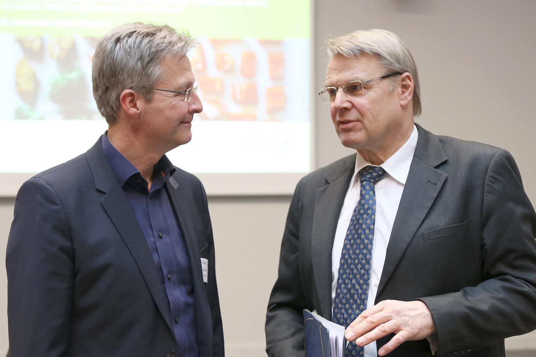 Prof. Dr. Guido Ritter (FH Münster) und Dr. Heinrich Bottermann (DBU)