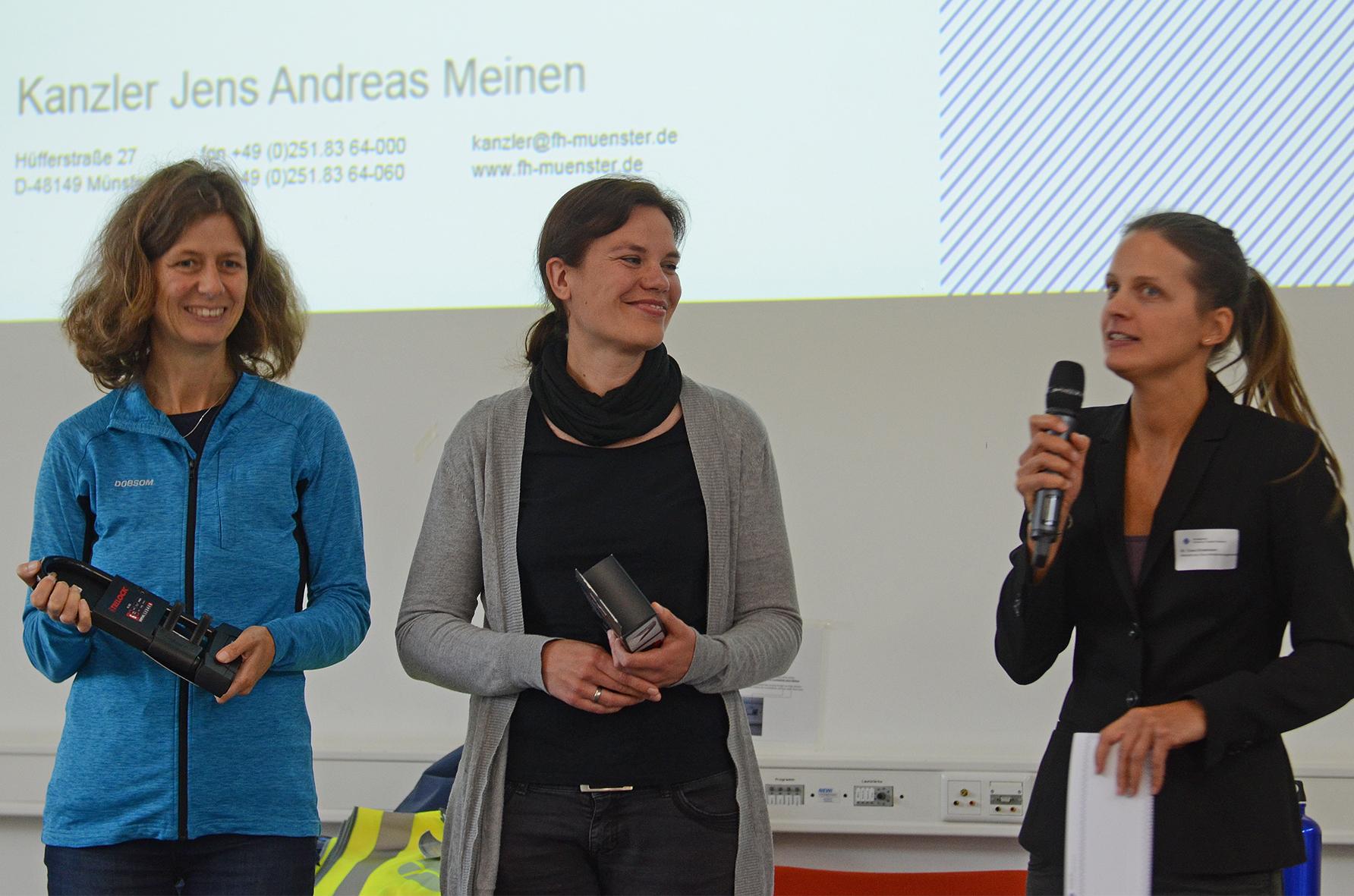 Birgitt Klugermann, Maike Giesbert und Dr. Cona Ehresmann