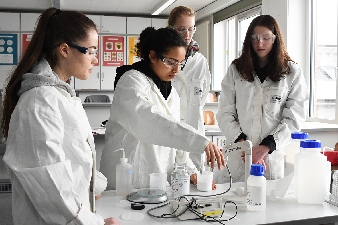 BASF-Workshop im Chemieraum