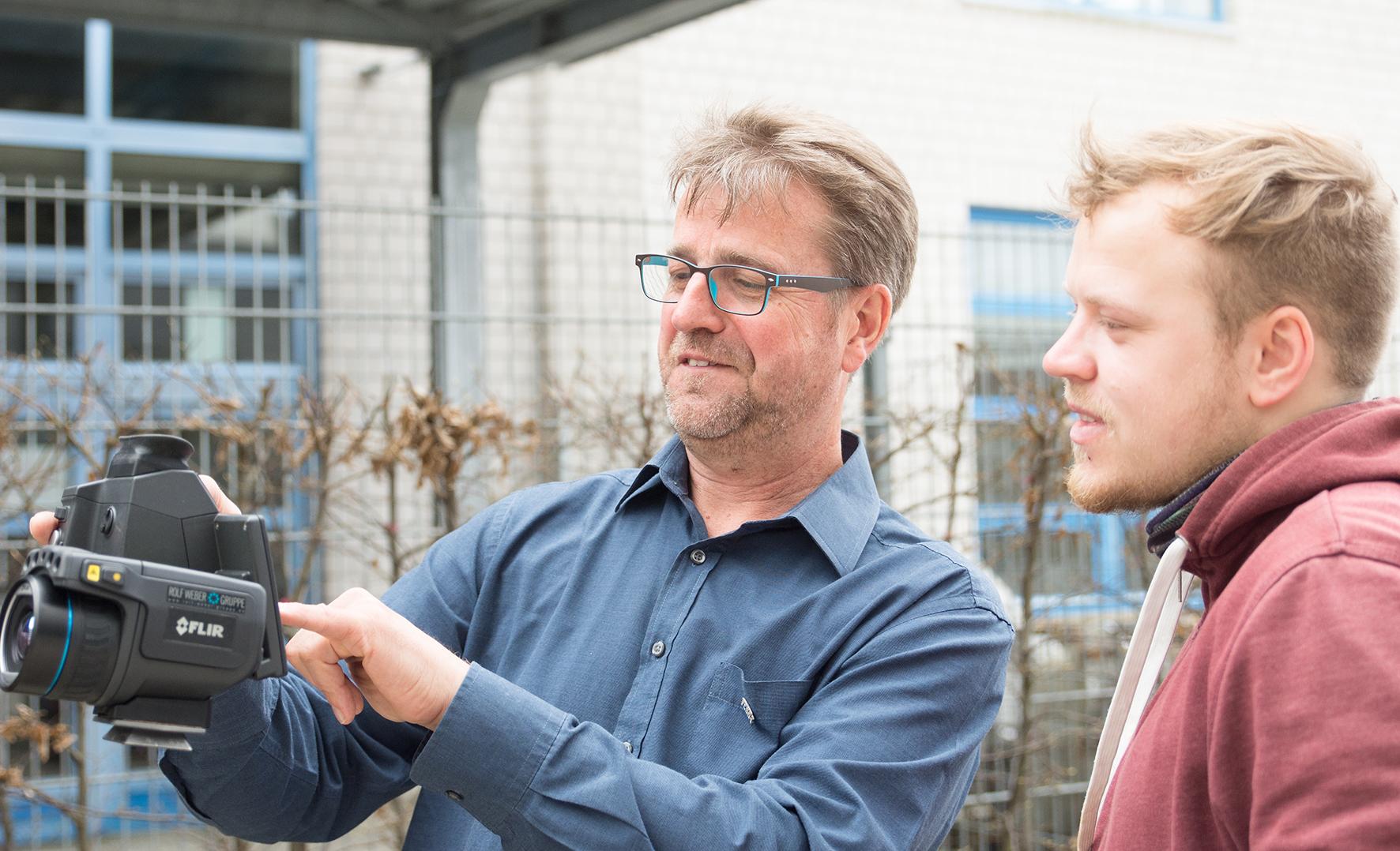 Reinhold Henrichmann und Student