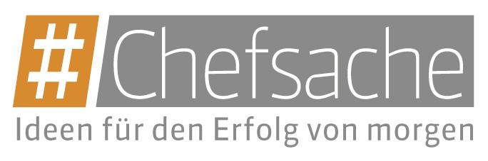 Logo #Chefsache Digitalisierung. Ideen für den Erfolg von morgen.