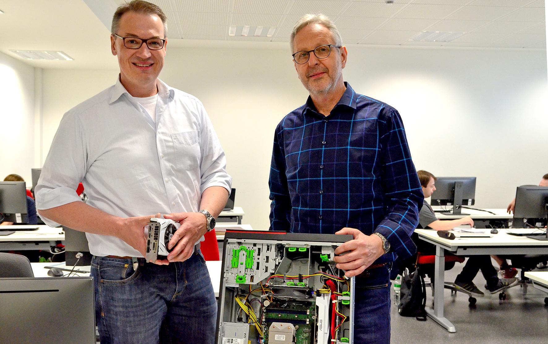 Prof. Dr. Jürgen te Vrugt und Prof. Dr. Hans Effinger