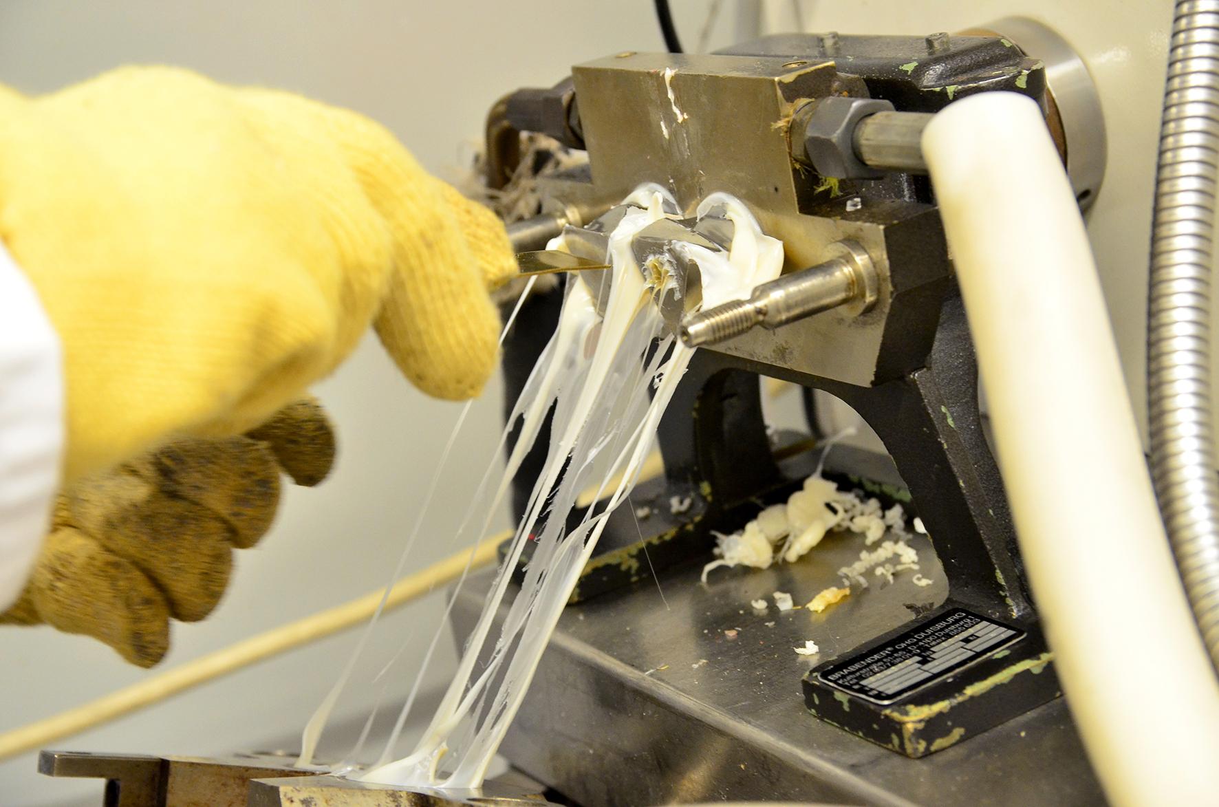 Detailaufnahme der Kunststofffäden