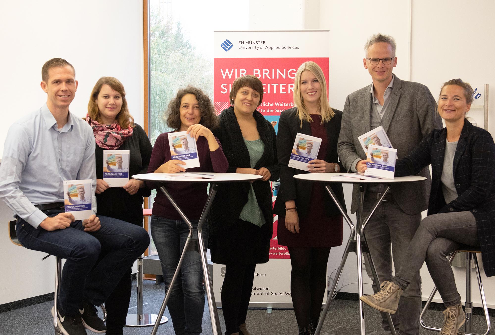 Team vom Weiterbildungsreferat am Fachbereich Sozialwesen der FH Münster
