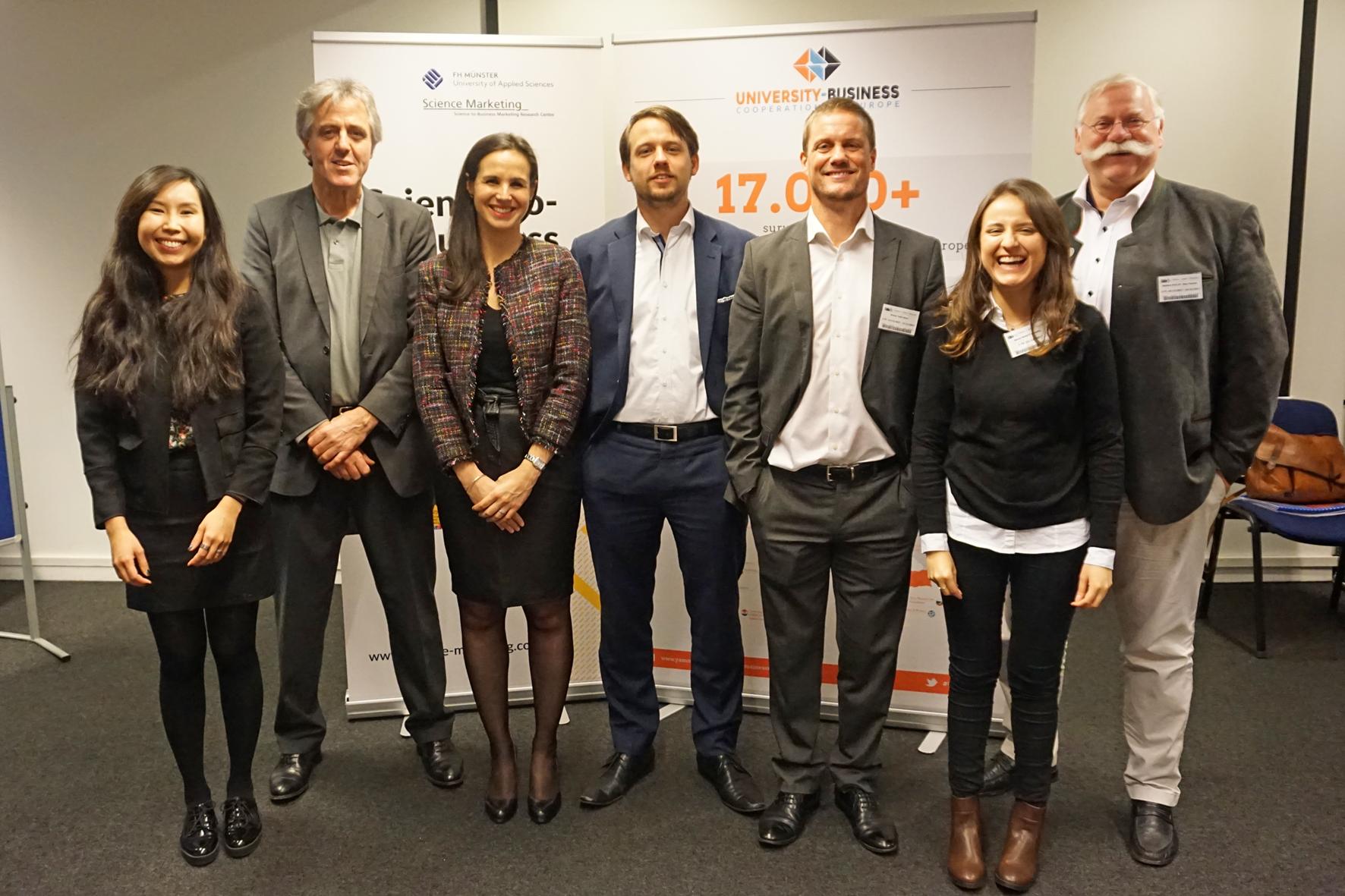 "Team des Projekts ""University-Business Cooperation in Europe"""
