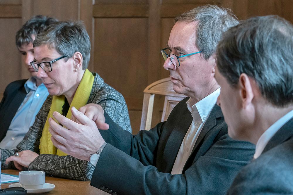 Prof. Dr. Mathias Uhl bei der Pressekonferen