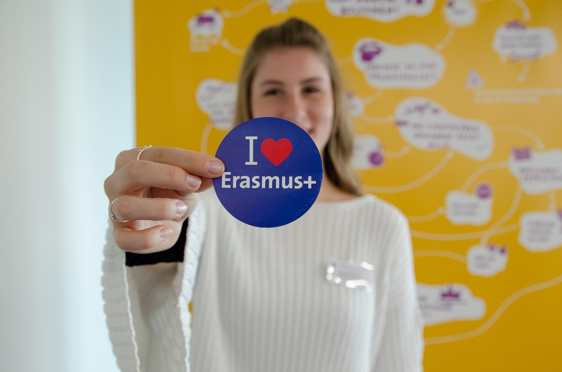 Sticker Erasmus+