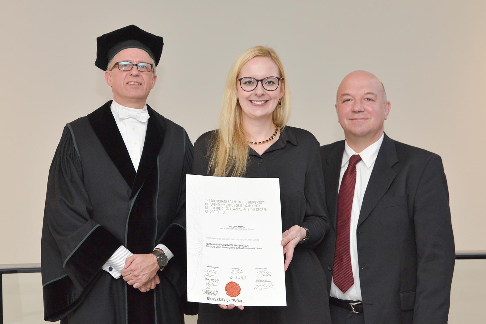 Prof. Schiele, Dr. Kappel, Prof. Buchholz