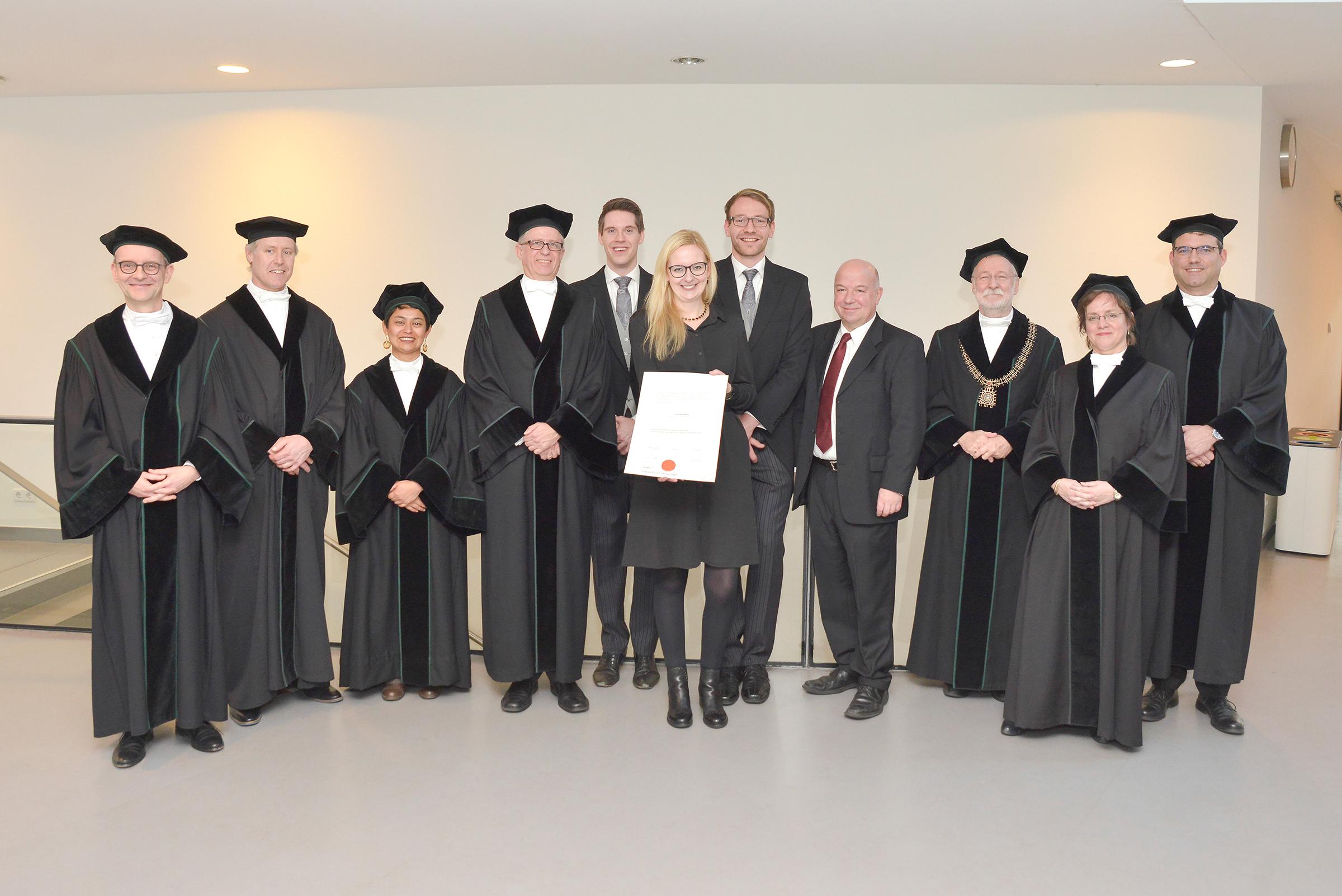 Prüfungskommission und Dr. Kappel