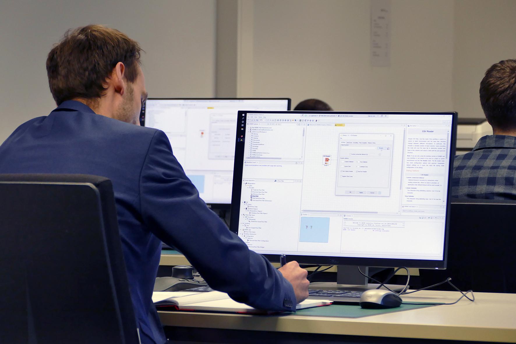 Teilnehmer am Computer