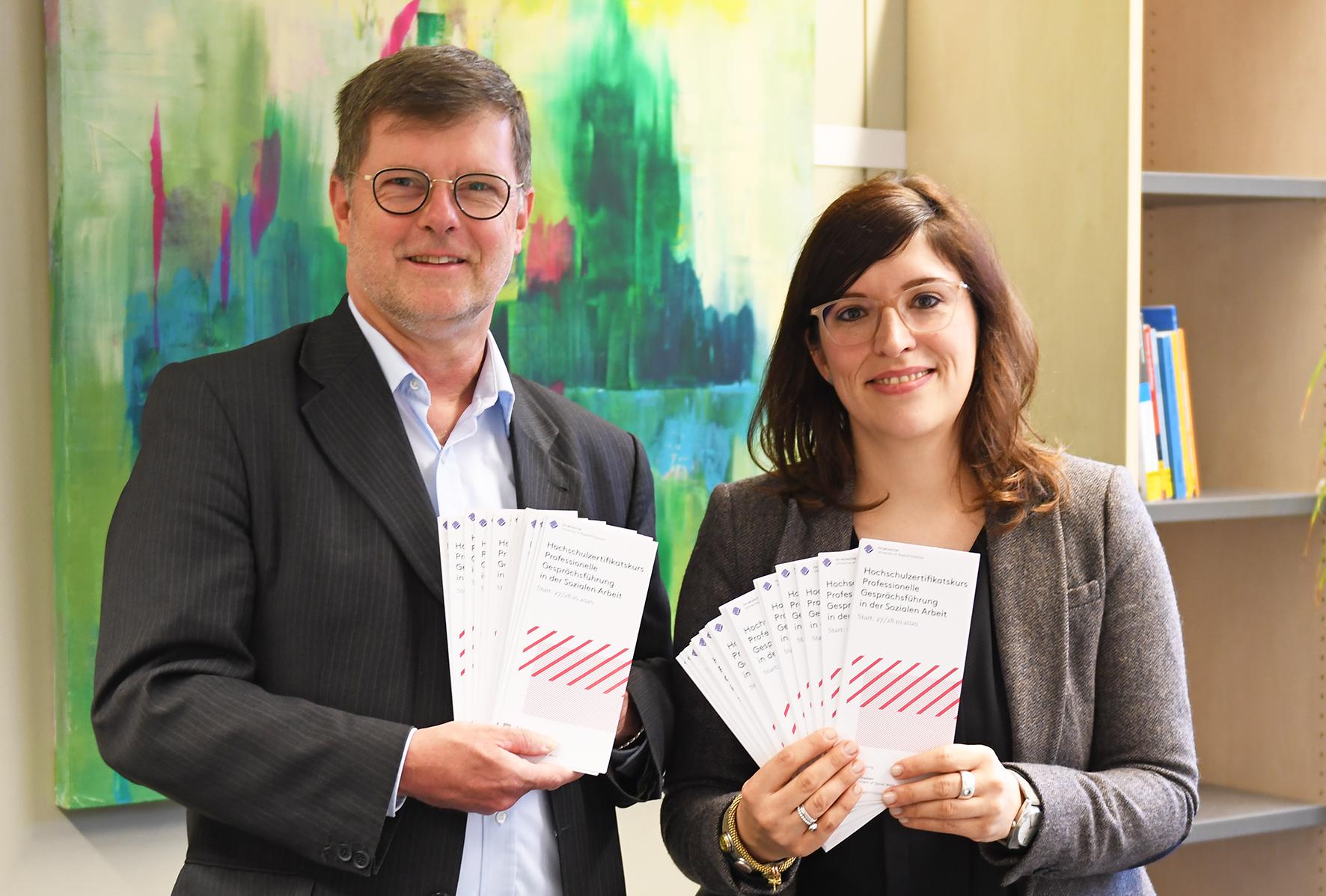 Prof. Dr. Stephan Barth und Dr. Laura Best