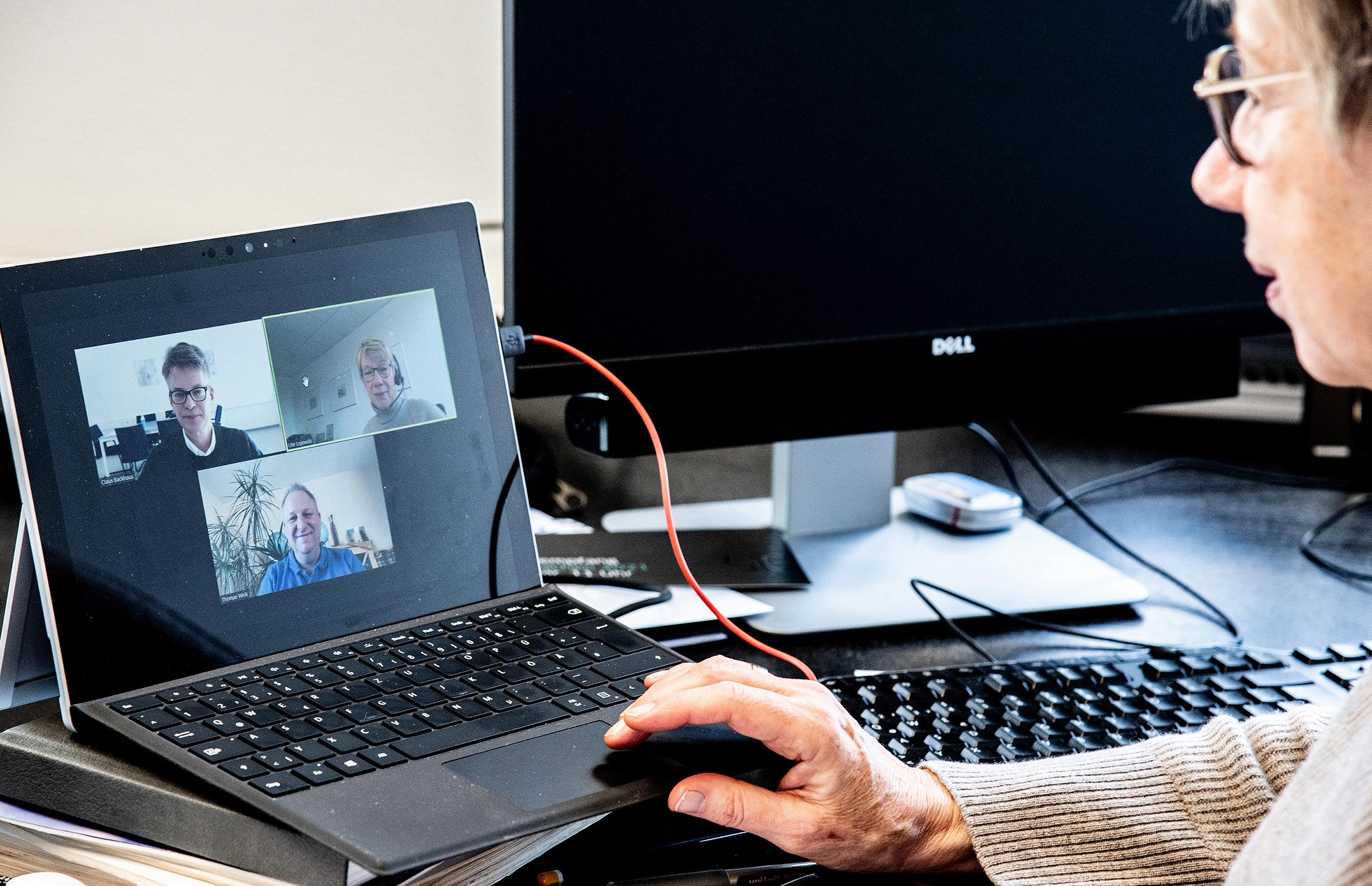 Videokonferenz mit Prof. Dr. Ute von Lojewski, Prof. Dr. Claus Backhaus, Prof. Dr. Thomas Weik