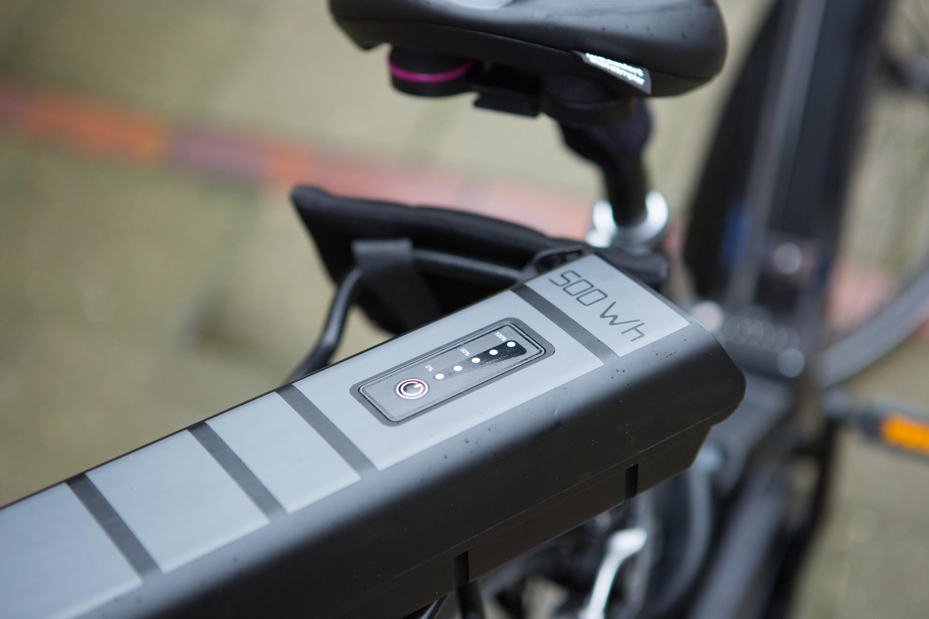 E-Bike mit ausgebautem Akku