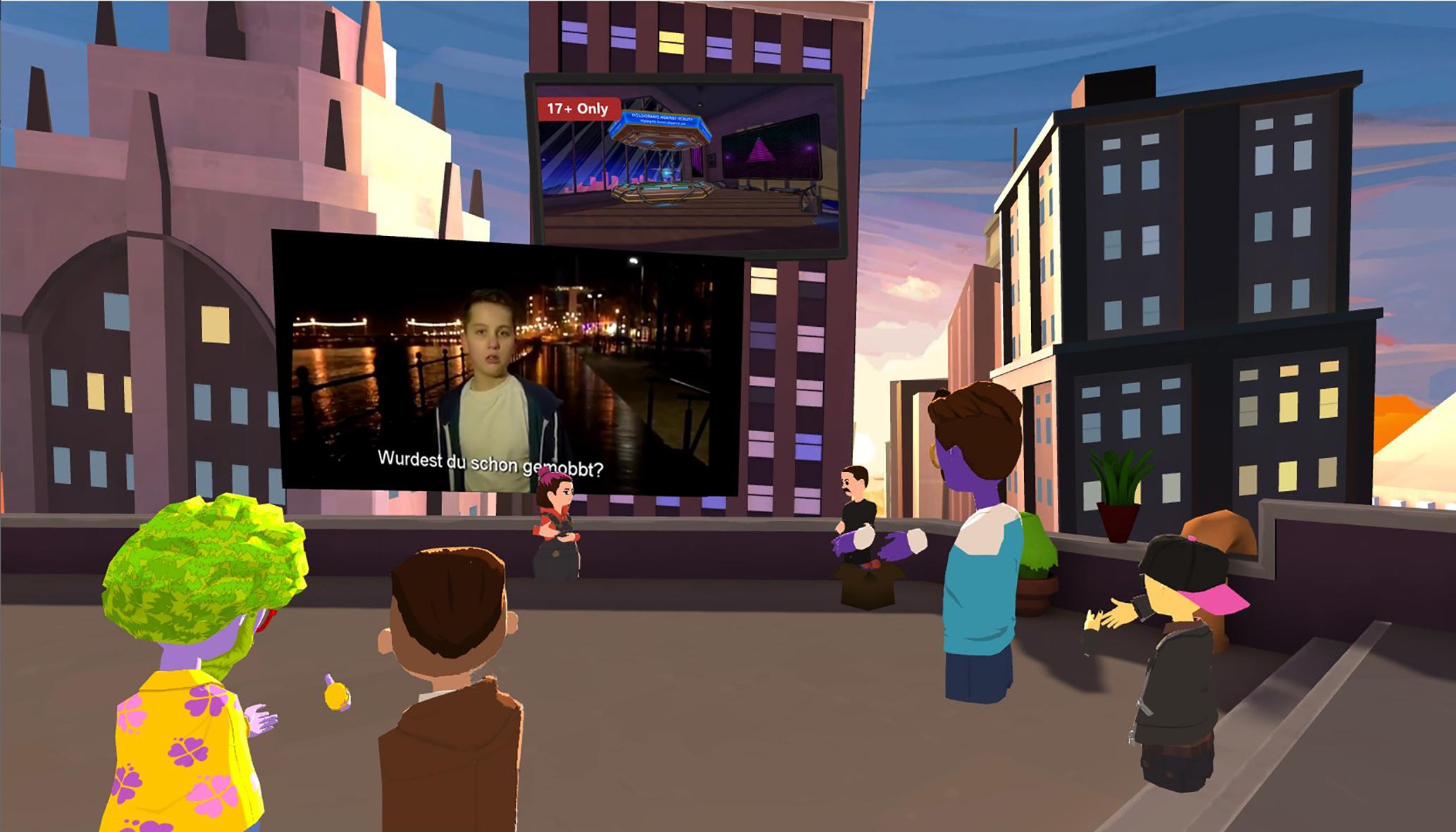 Virtueller Jugendtreff, Szene aus Microsoft Altspace VR