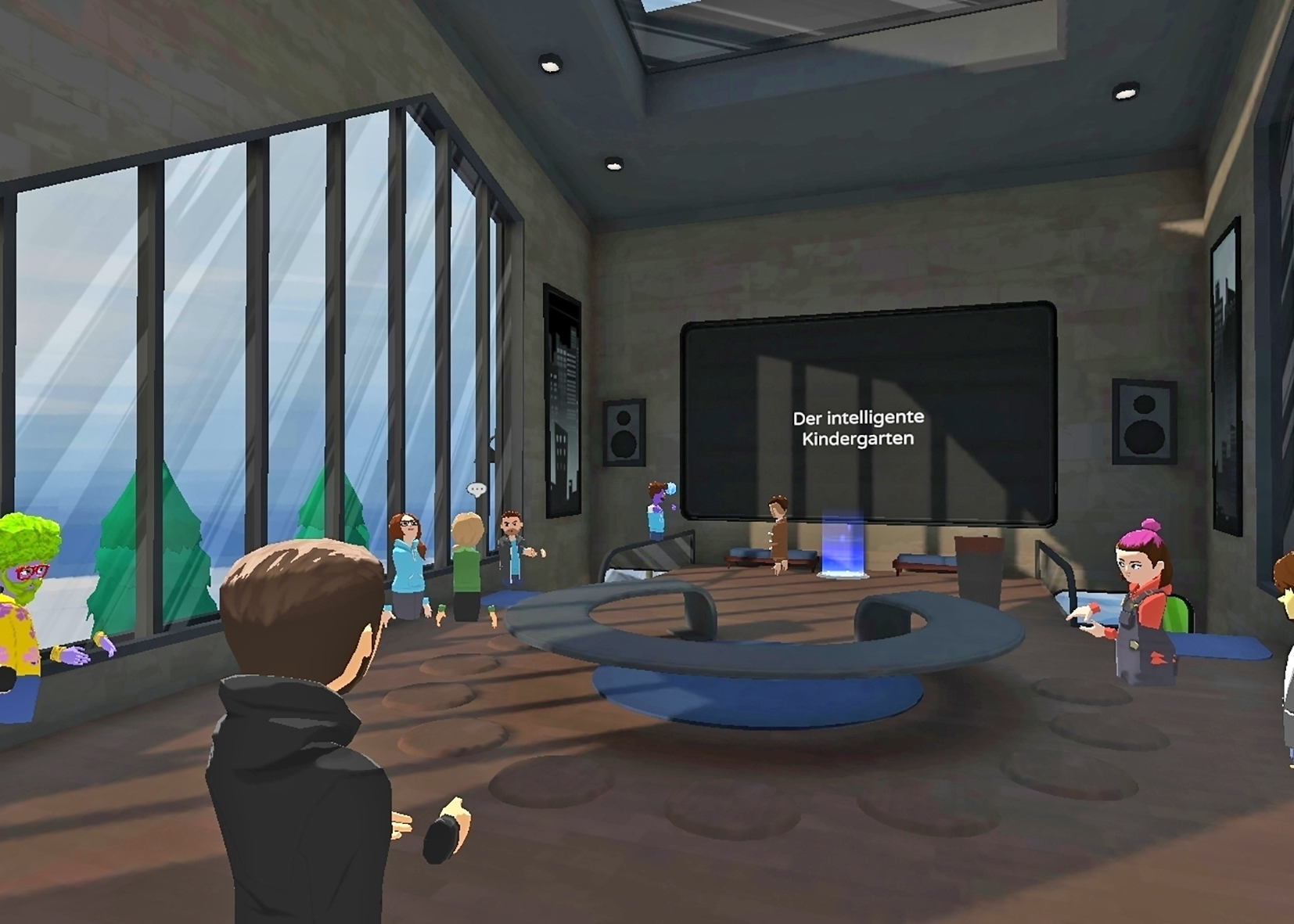 Rundgang durch Kindergarten, Szene aus Microsoft Altspace