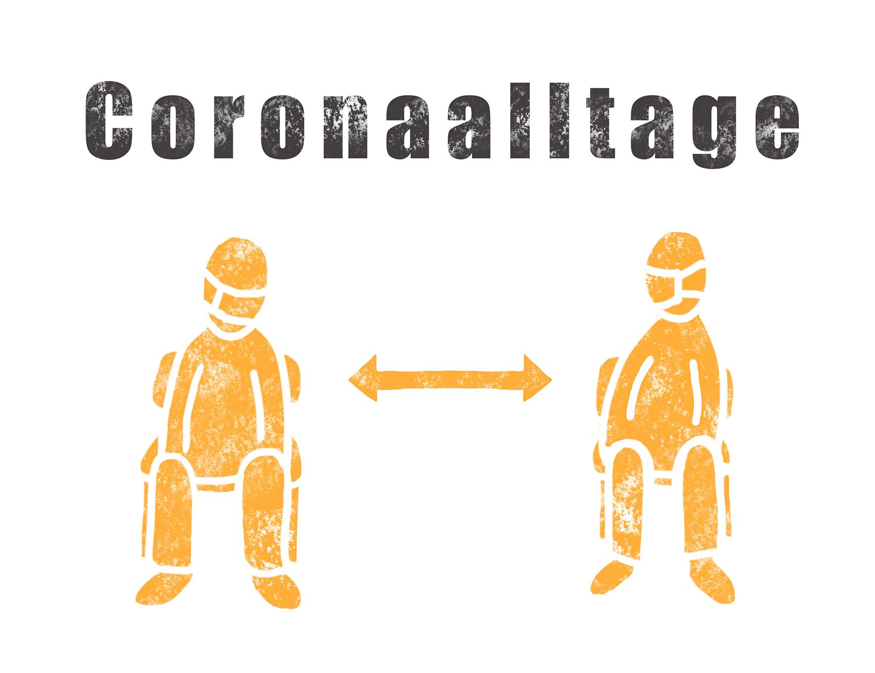 "Illustration des Blogs ""Corona-Alltage"""