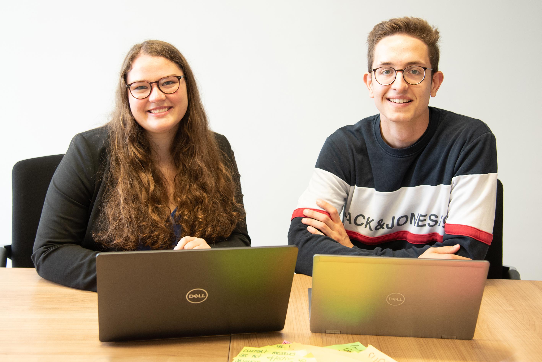 Luis Wulfert und Luise Henßler