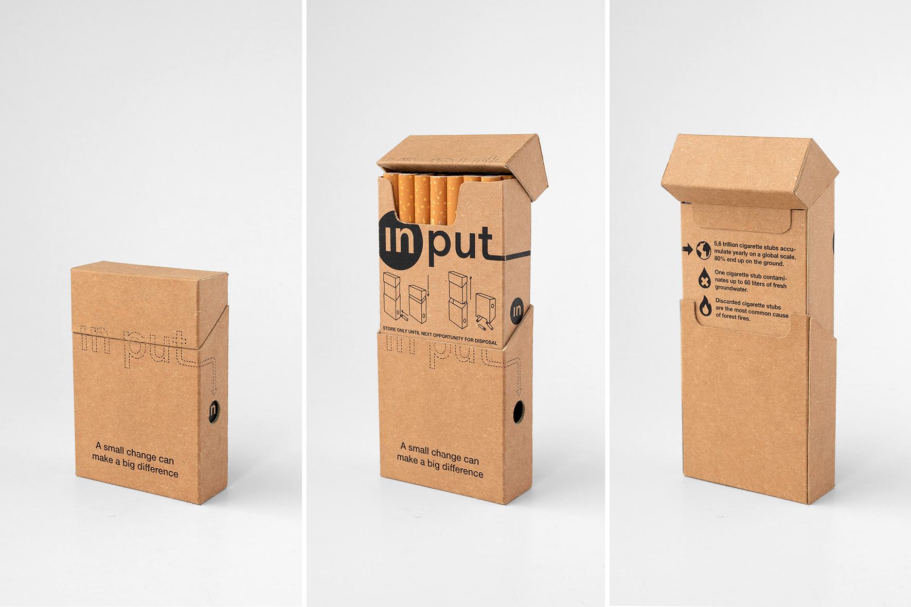 """Zigarettenverpackung """"Input"""""""