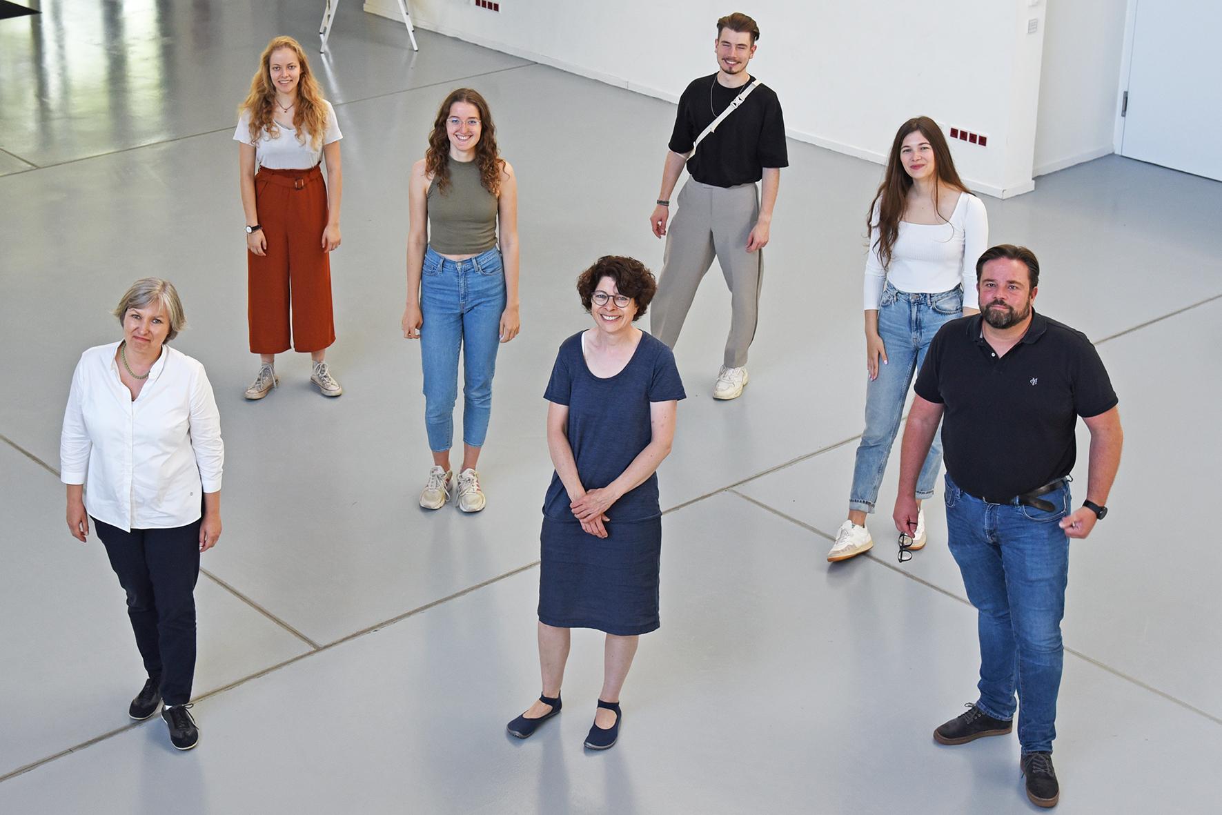 Dr. Sabine Happ, Annemarie Woeste, Kim Janke, Dr. Edda Baußmann, Tobias Moser, Hanna Breimann, und Matthias Frankenstein