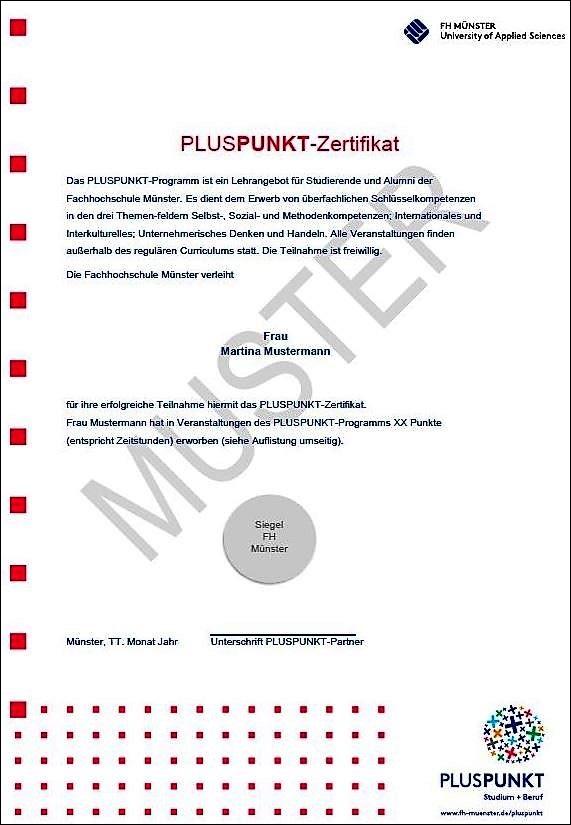 Pluspunkt Zertifikat Fh Münster